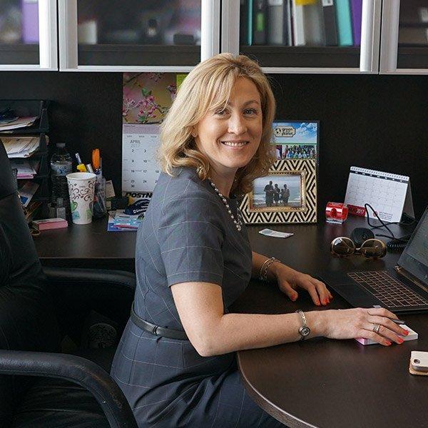 Yana at her desk