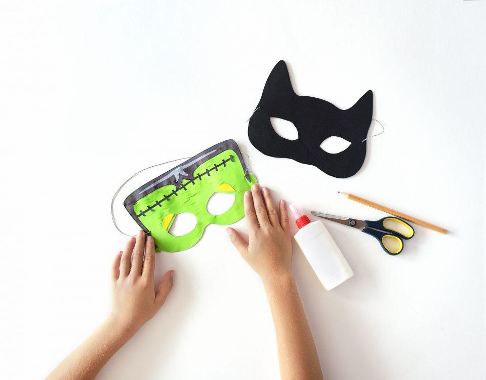 paper Halloween mask
