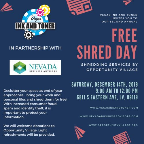 Free Shred Day 2019 Flyer