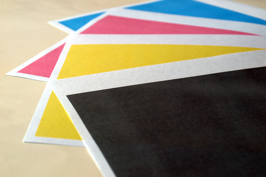 Samples of printer colors