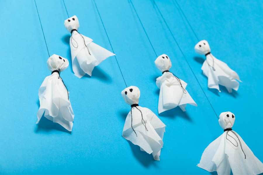 lollypop hanging ghost
