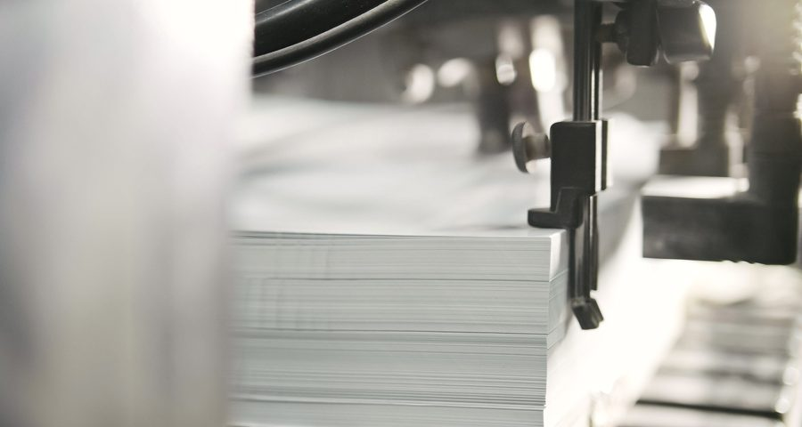 A lot of printer paper